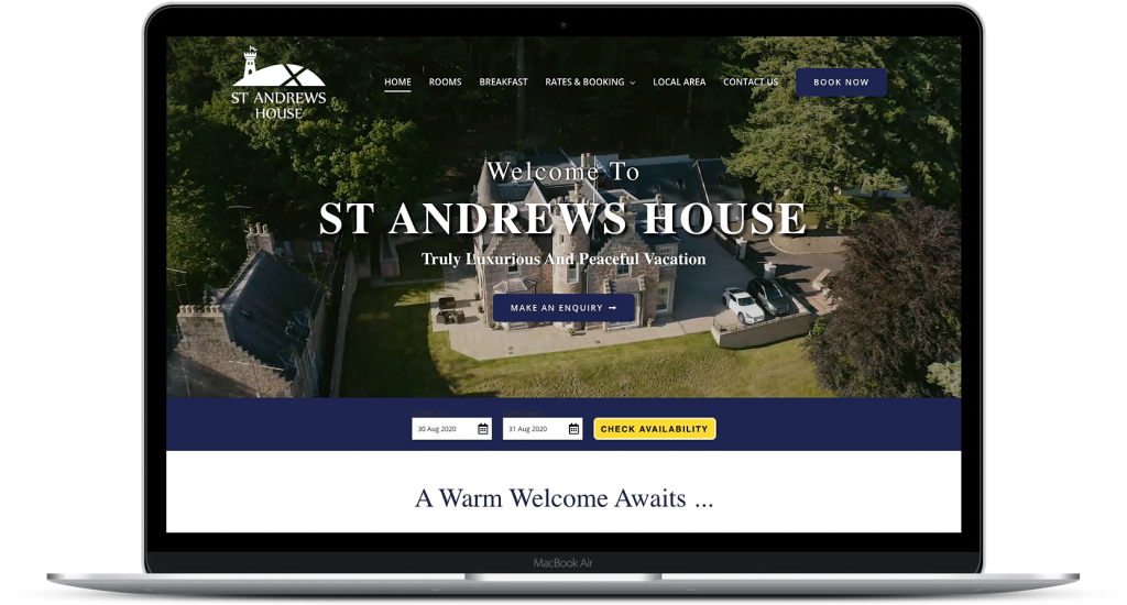 Accommodation Website Design Aberdeen